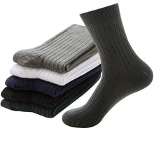 Load image into Gallery viewer, 5pairs Health Pure Cotton Men's Socks Summer Autumn Breathable Soft Man Socks Casual Fashion Male Sock Deosorant Sox Meias Crew