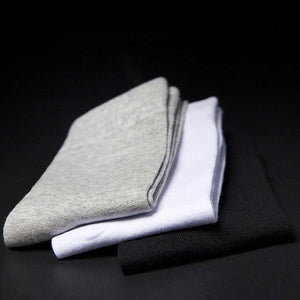 5pair Men Short Socks 200 Needle Combed Cotton Solid Color Black White Grey Art Tide Brand Man Sock Meias Absorb-sweat Socks Sox