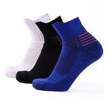 Load image into Gallery viewer, Urgot 3 Pairs Men Socks Breathable Sweat Non-slip Shock Absorption Socks Men Professional Basket Ball Durable Cotton Socks Meias
