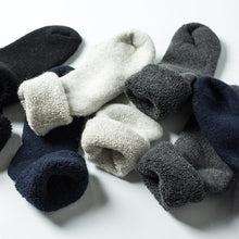 Load image into Gallery viewer, Urgot 3 Pairs Men Wool Socks Winter Super Thick Warm Solid Color Black Woolen Thermal Male Casual Sleep Socks Men Sox Calcetines