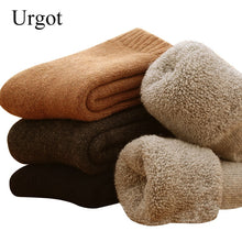 Load image into Gallery viewer, Urgot 5 Pairs Men's Wool Socks Super Thicker Merino Wool Rabbit Socks Against Cold Snow Russia Winter Warm Funny Happy Socks Men