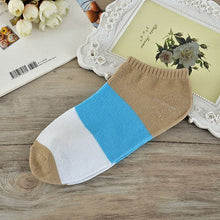 Load image into Gallery viewer, 5 Pairs/lot Women Sock Colorful Patchwork Girls Cotton Ankle Black Sock Summer Spring Casual Female Funny Sock Meias calcetines