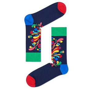 Urgot 4 Pairs Colour Crew Cotton Happy Socks Men Women British Style Casual Harajuku Design Fashion Novelty Art For Couple Fun