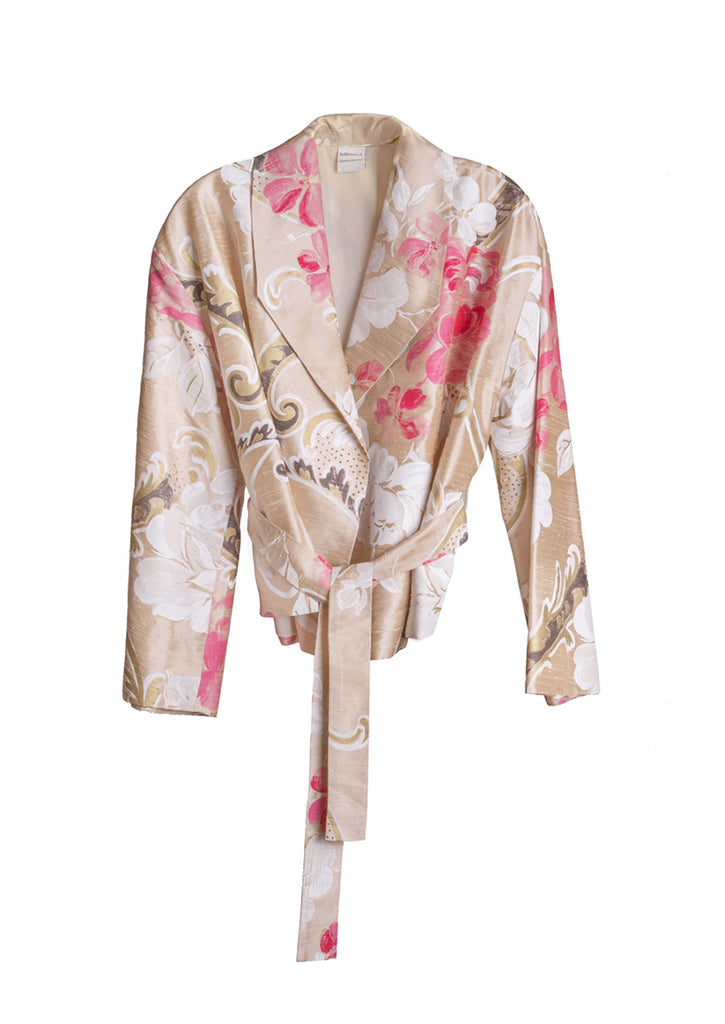 The Cropped Jacket - Rose Floral
