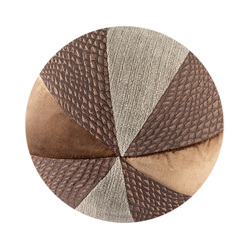 "10"" Indoor Ball Pillow - Satiny Mocha"