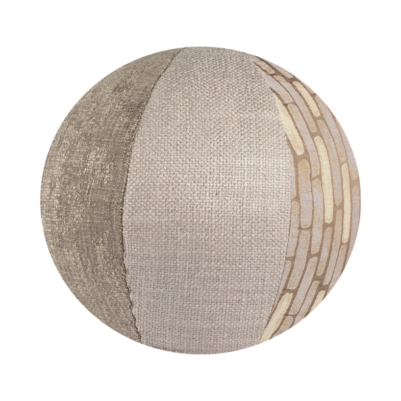 "14"" Indoor Ball Pillow - Gray Mosaic"