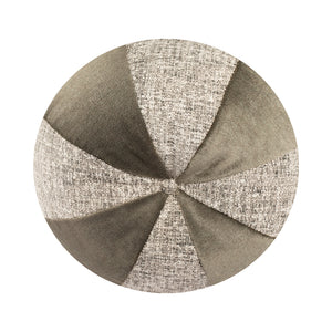 "14"" Indoor Ball Pillow - Gray on Gray"