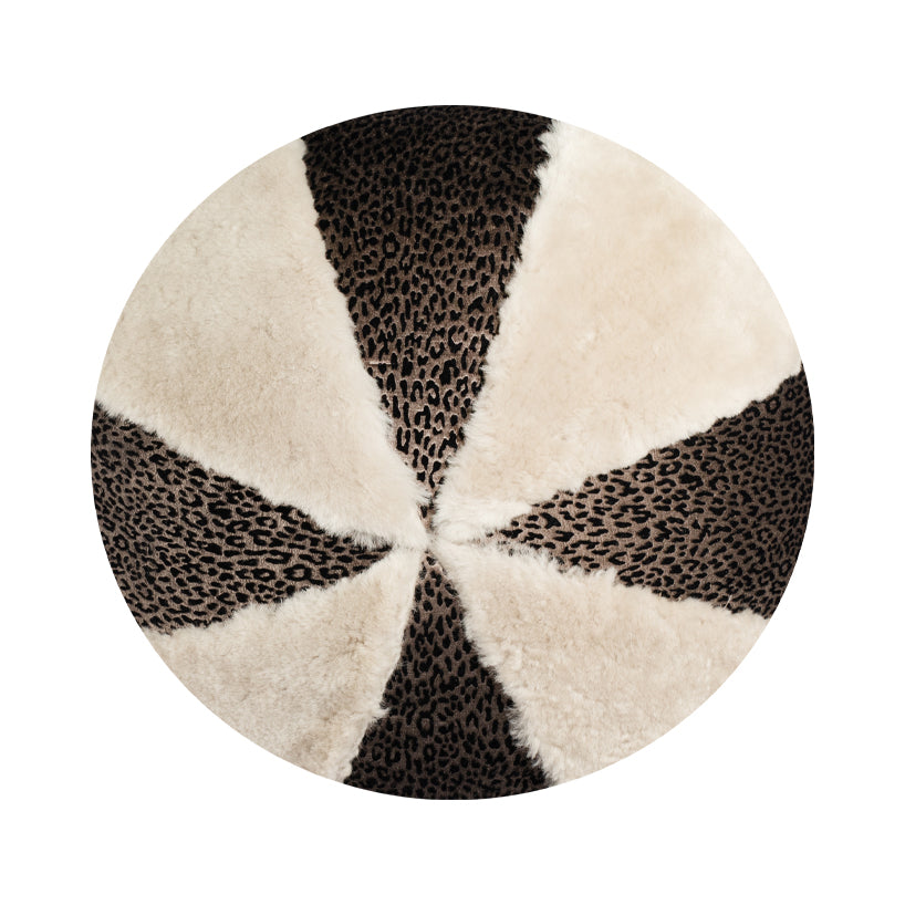 "14"" Indoor Ball Pillow - Shimmery Shearling"