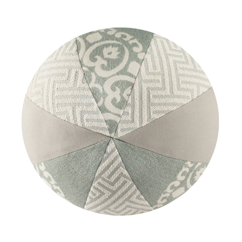 "10"" Outdoor Ball Pillow - Aqua Pattern"