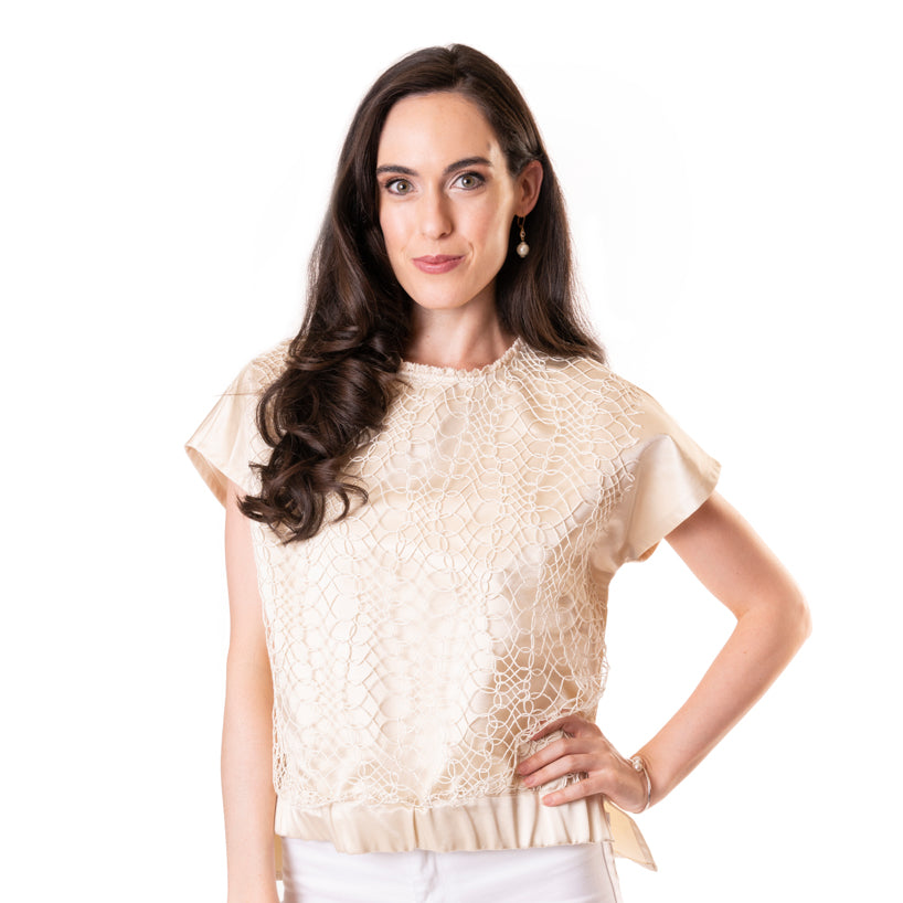 The Lacey Blouse - Cream