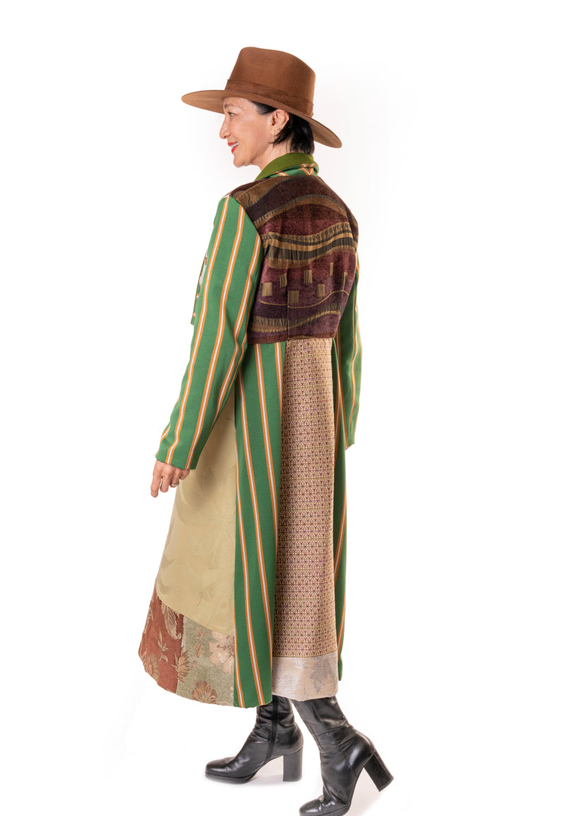 The Anna Coat - Green Sleeves