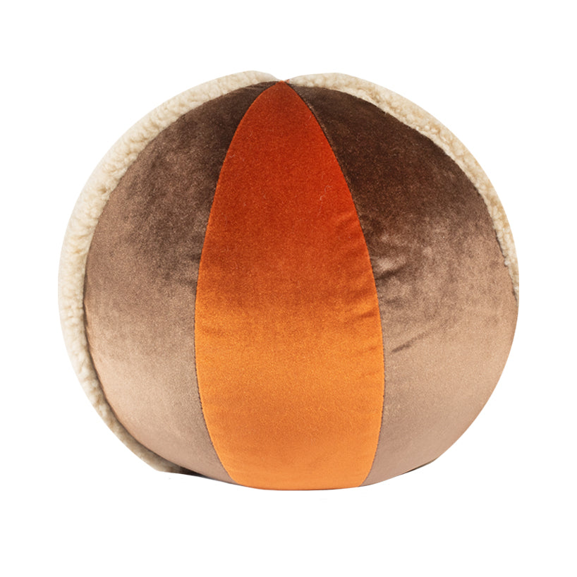 "10"" Indoor Ball Pillow - Orange Shearling"