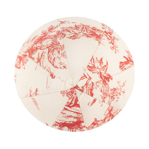 "10"" Indoor Ball Pillow - Red Toile"