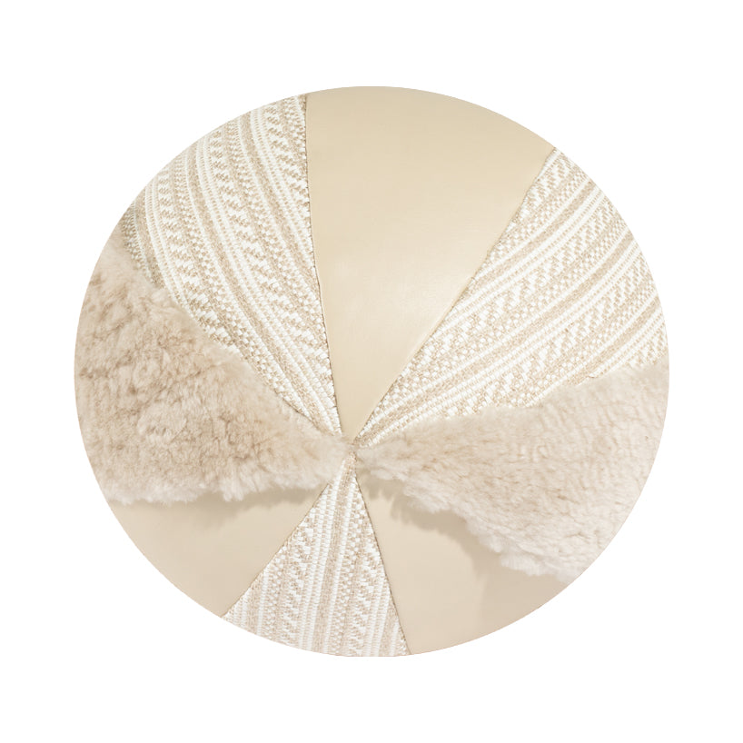 "10"" Indoor Ball Pillow - Creamy Shearling"