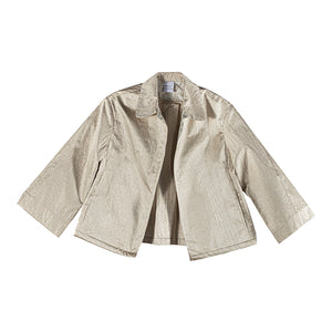 The Swing Jacket - White Silver