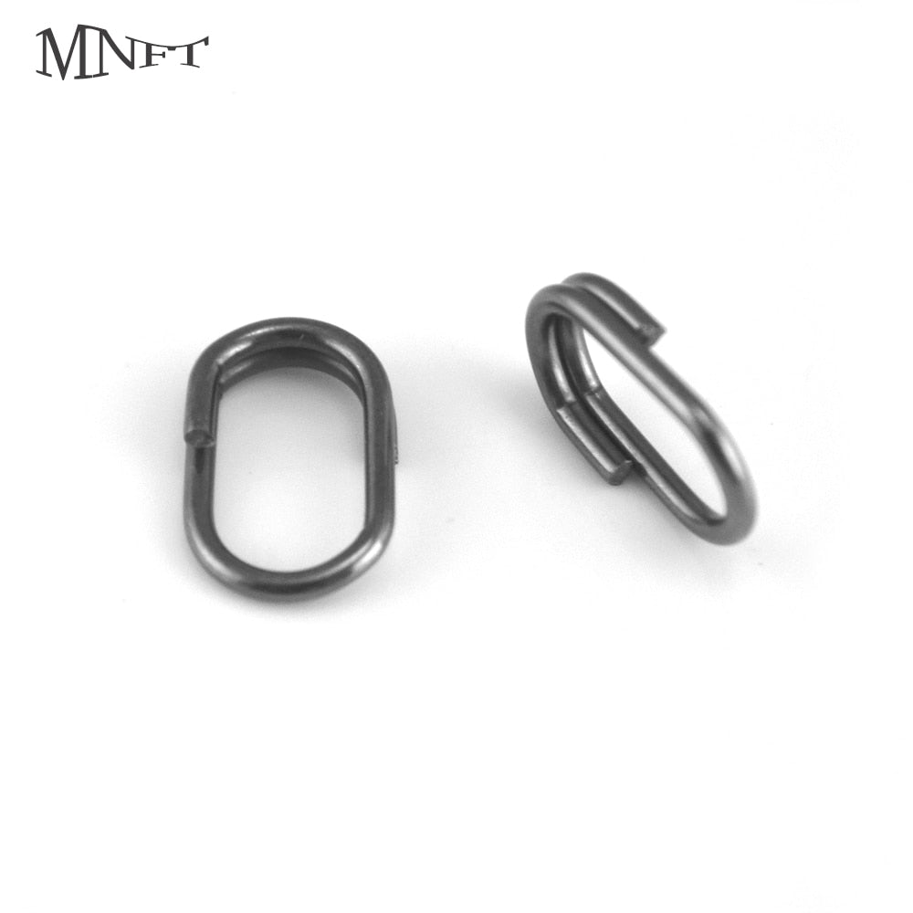 200Pcs High Strength Stainless Steel Oval Double Split Ring Lure Connectors