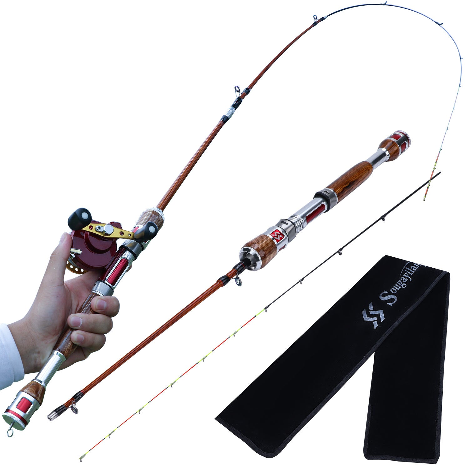 Sougayilang 2 Section Fishing Rod And Reel Combo Carbon Fiber Rod Spin Gwapsy Store