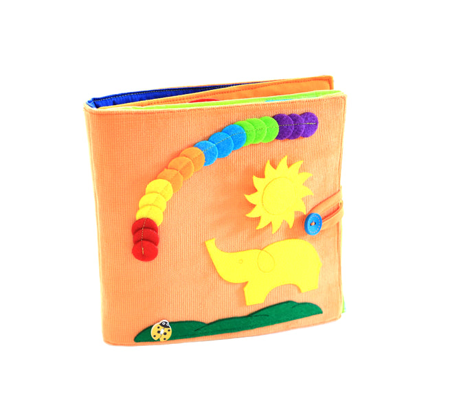 tantinotoys - Carte senzoriala Portocalie (Tantino Orange quiet book) -
