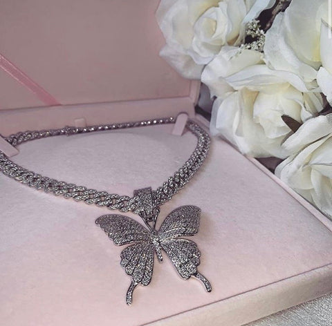 """It Girl"" Butterfly Cuban Chain"