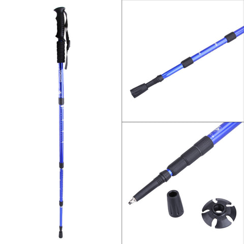 Telescopic Hiking Stick With Interchangeable Tips