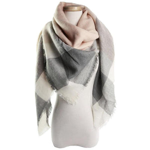Women Winter Stole Plaid Scarf Fashion