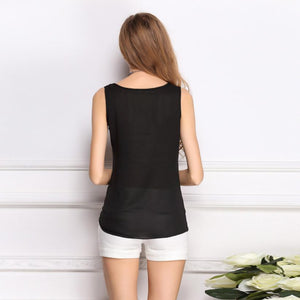 O-Neck  Women   Summer Black  T-Shirt