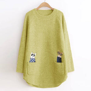Women Sweater Long Cute Cartoon