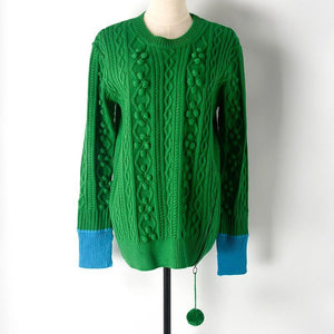 green sweater 2019 New Fashion