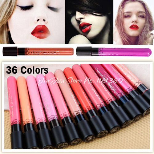 Discount~Hot Long Lasting Matte Lipstick 36 colors Velvet High Quality Waterproof Lip Gloss Daily Sweet Elegant colors 12pcs/lot