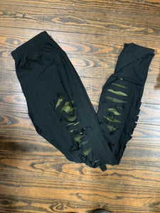 Slashed High Waisted Leggings