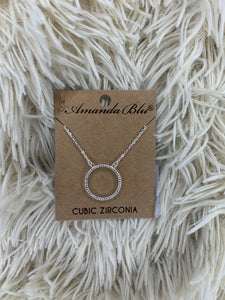 Ice Blue Circle Necklace