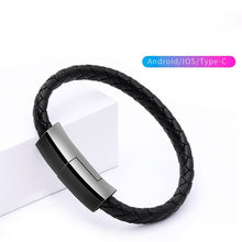 Load image into Gallery viewer, Leather Bracelet Charging Cable