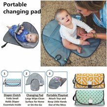Load image into Gallery viewer, 3-in-1  Portable Diaper Changing Pad