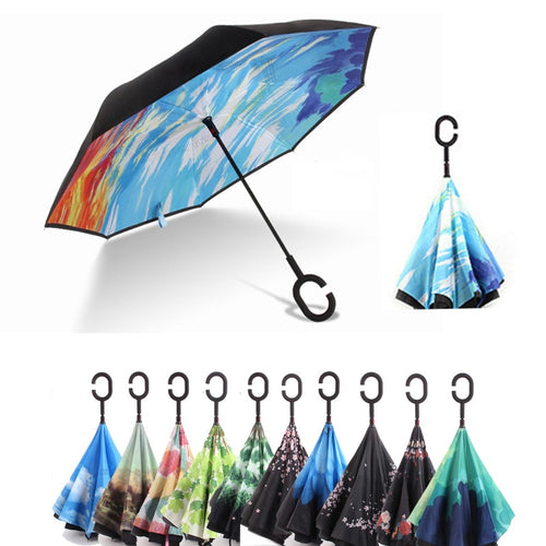 Starry Sky Inverted Umbrella