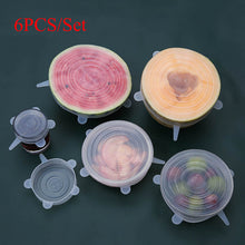 Load image into Gallery viewer, 6pcs Reusable Silicone Food Covers