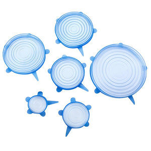 6pcs Reusable Silicone Food Covers