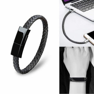 Leather Bracelet Charging Cable