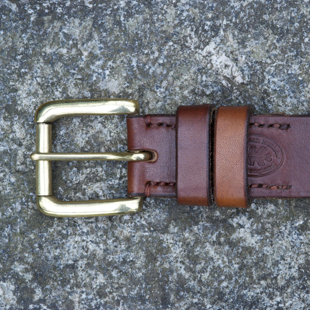 "Heckwood Oak Bark Tan 1.5"" belt"