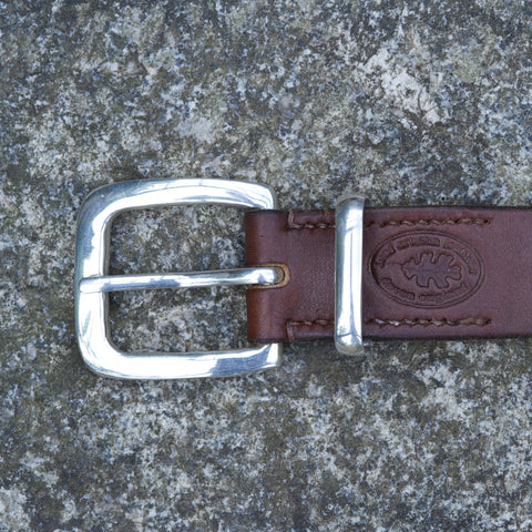 "Solid Silver Heltor Buckle 1.25"" wide"