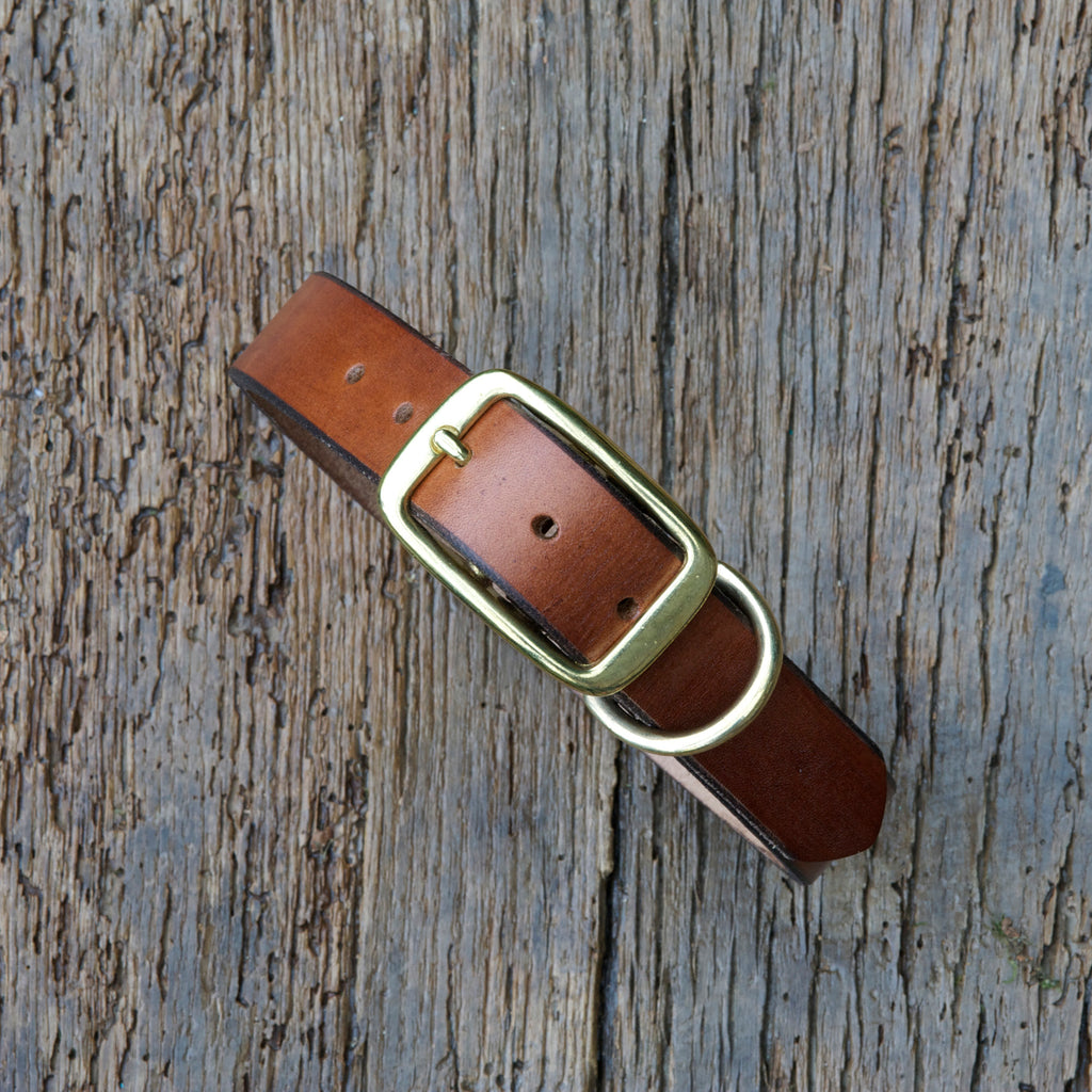Oak Bark Tan dog collar