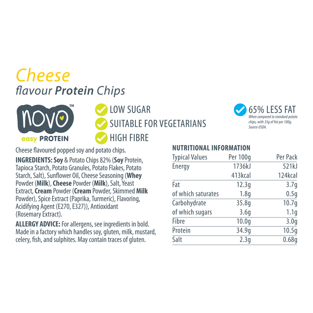 Cheese flavoured Protein Chips - Box of 6x 30g bags