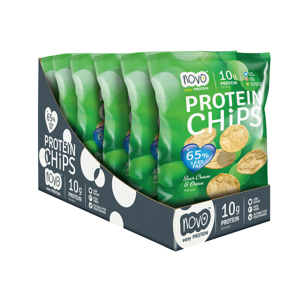 Sour Cream & Onion flavoured Protein Chips - Box of 6x 30g bags