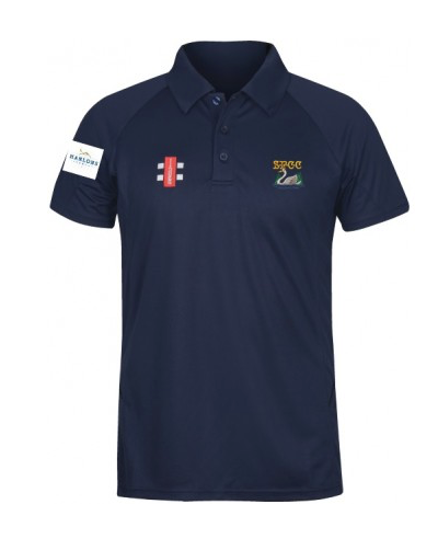 SHOBROOKE PARK CC MATRIX POLO SHIRT NAVY WHITE SWAN