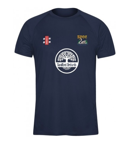 SHOBROOKE PARK CC SENIOR MATRIX TEE SHIRT NAVY WHITE SWAN