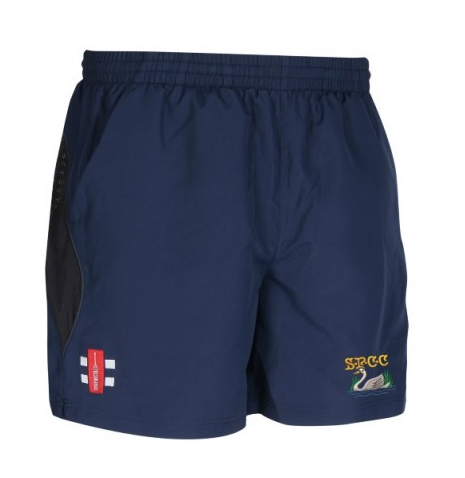 SHOBROOKE PARK CC JUNIOR STORM SHORT NAVY WHITE SWAN
