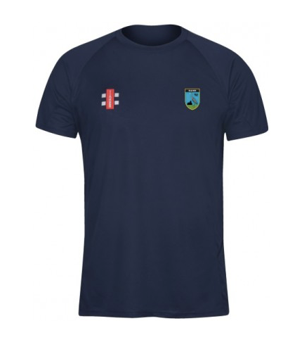 HERONGATE & INGRAVE CC SENIOR MATRIX TEE SHIRT NAVY