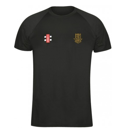 ST JOHNS BILLERICAY CC SENIOR MATRIX TEE SHIRT BLACK