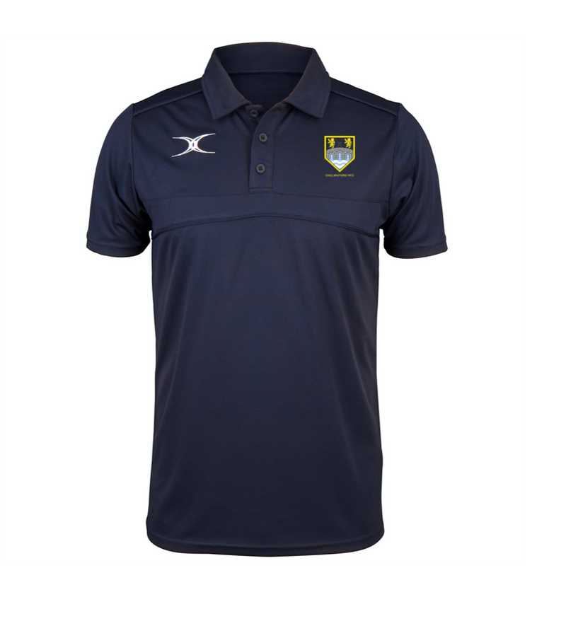 CHELMSFORD RFC SENIOR GILBERT PHOTON POLO SHIRT NAVY
