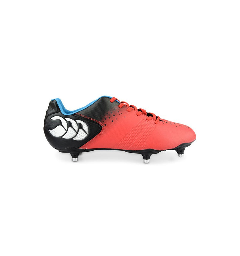 CANTERBURY CONTROL CLUB 6 STUD BOOT RED/BLACK