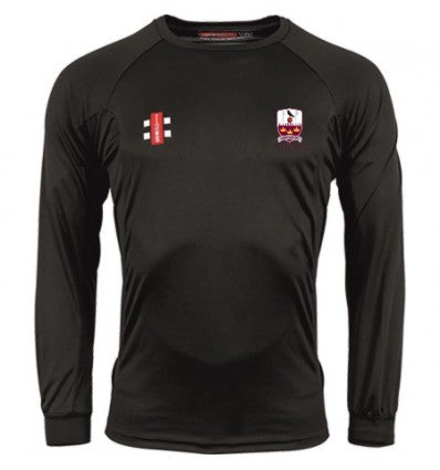 GRAY NICOLLS BRENTWOOD CC MATRIX LS TEE SHIRT BLACK